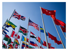 flags showing different countries